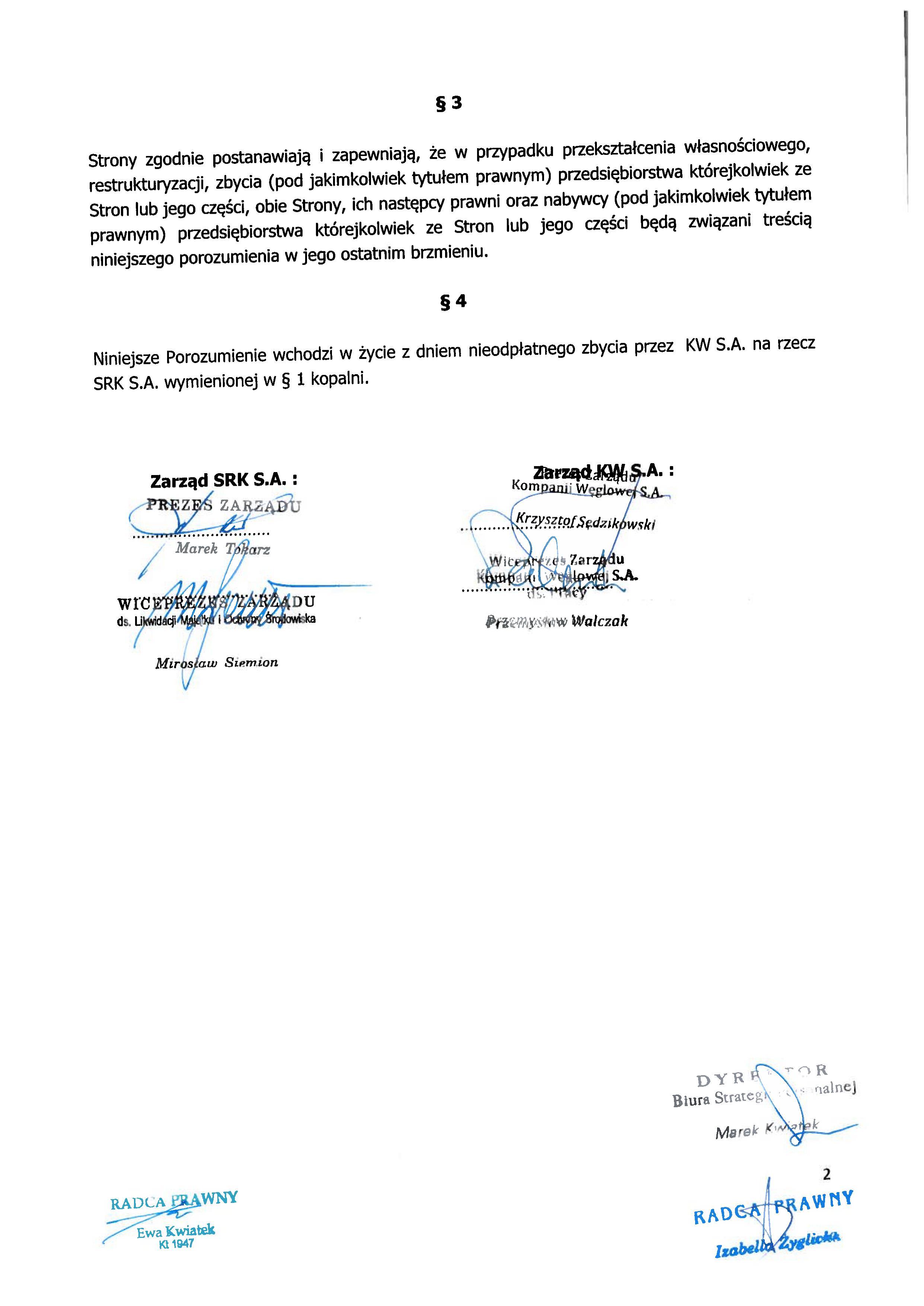 Porozumienie z SRK zapewnienie zatrudnienia Centrum 150508_02