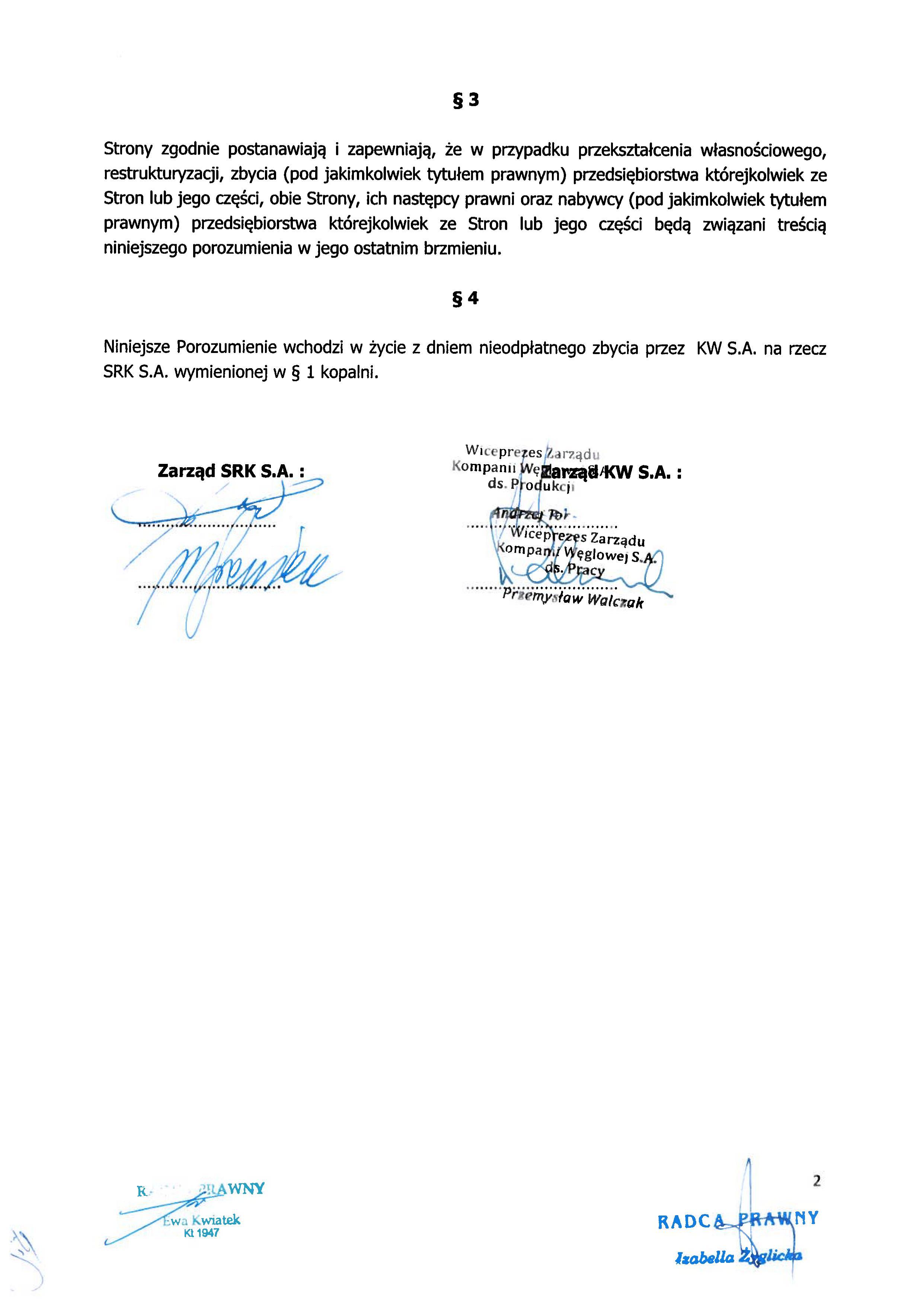 Porozumienie z SRK zapewnienie zatrudnienia Makoszowy 150430_02