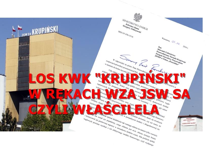 """LOS KWK """"KRUPIŃSKI"""" W RĘKACH WZA JSA SA"""