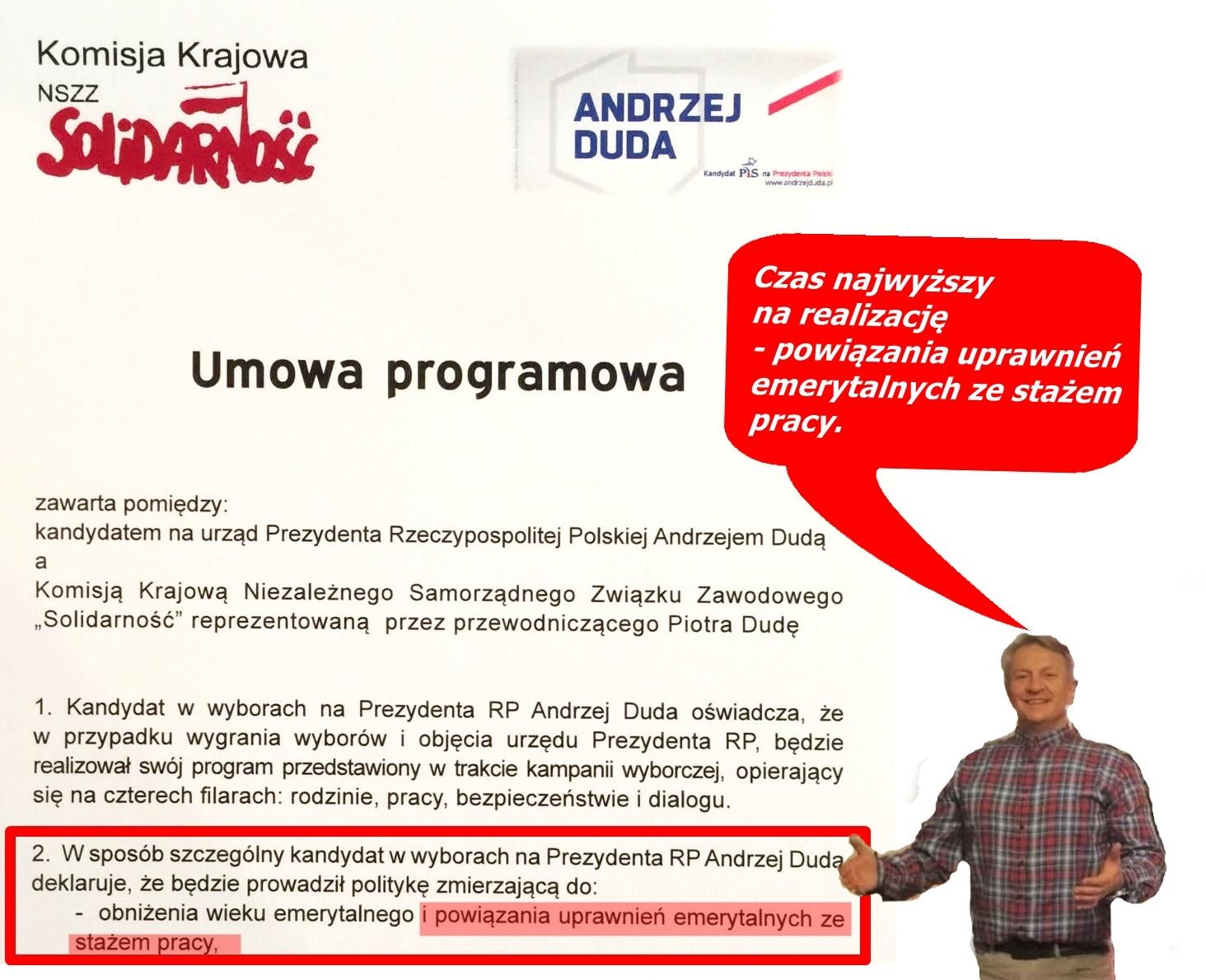 POLITYCZNYM PANACEUM SĄ, EMERYTURY STAŻOWE  35/40 LAT