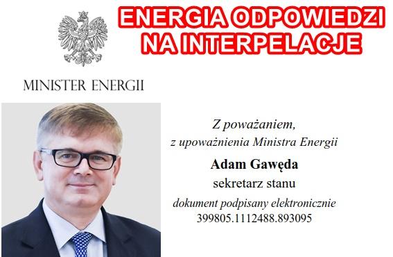 ENERGICZNE ODPOWIEDZI NOWEGO SEKRETARZA STANU MINISTERSTWA ENERGII W TEMACIE UTRATY WĘGLA