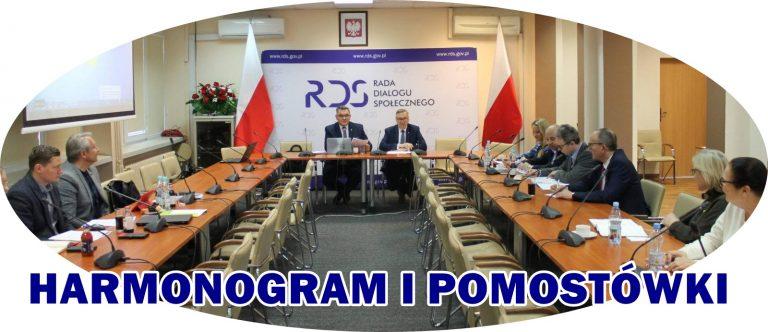 HARMONOGRAM I POMOSTÓWKI NA ZESPOLE DS. UBEZPIECZEŃ SPOŁECZNYCH RDS
