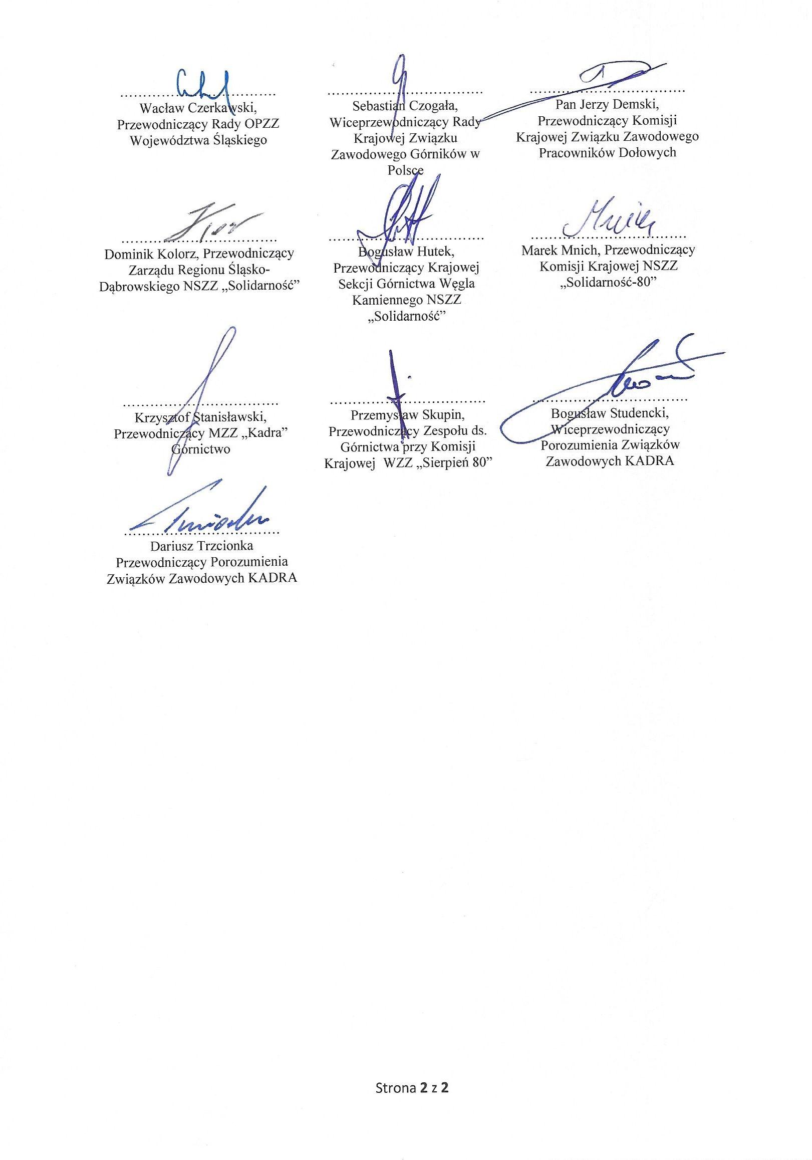 Górnicze porozumienie z rządem z dnia 25.09.2020